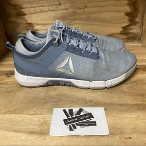 Reebok CrossFit blue grey white outdoors running training sports sneakers shoes